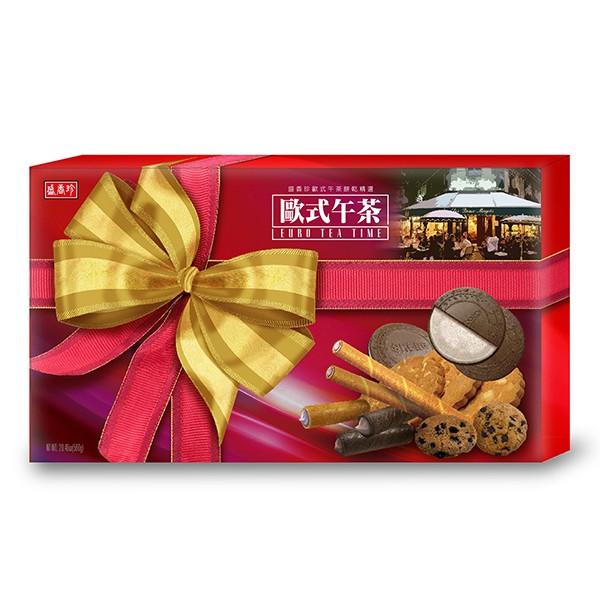 ★年節特選商品★盛香珍 歐式午茶餅乾禮盒580g/盒-附提袋