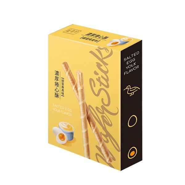 盛香珍 濃厚捲心酥(鹹蛋黃風味)135gX10盒(箱)