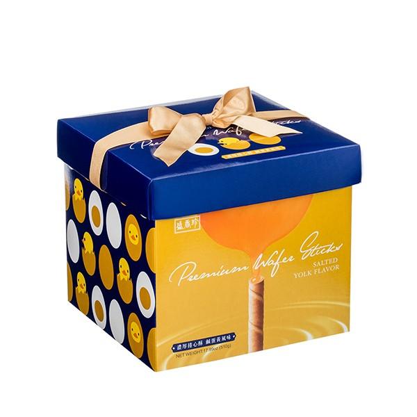 ★年節特選商品★盛香珍 濃厚捲心酥禮盒(鹹蛋黃風味)510g/盒