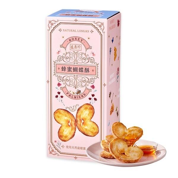 盛香珍 抽屜餅乾盒系列-蜂蜜蝴蝶酥204g/盒