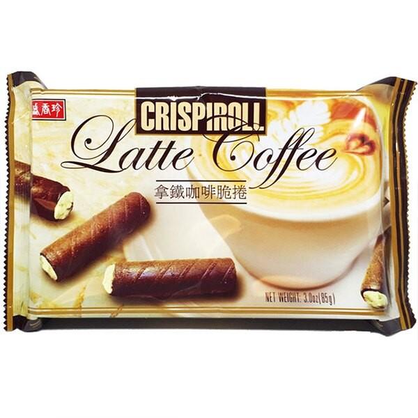 盛香珍 拿鐵咖啡脆捲85gX12包入(箱)