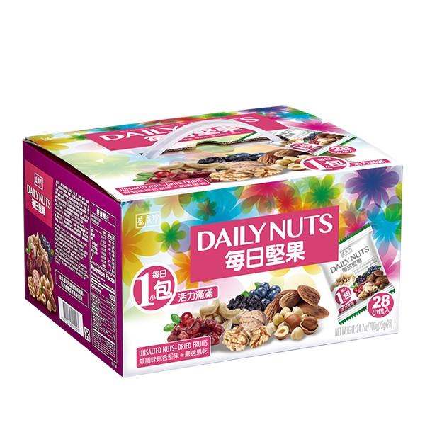 盛香珍 每日堅果禮盒700g(盒)(內有28小包)
