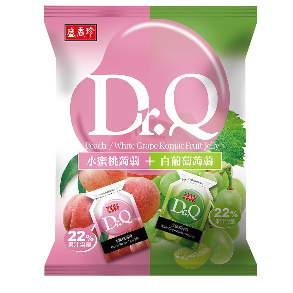盛香珍 Dr.Q蒟蒻果凍420g系列x5包入(水蜜桃+白葡萄)