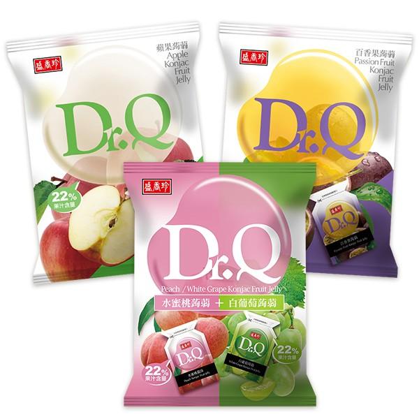 盛香珍 Dr.Q蒟蒻果凍420g系列x5包入(百香果/雙味(水蜜桃+白葡萄) 共2種口味可選)