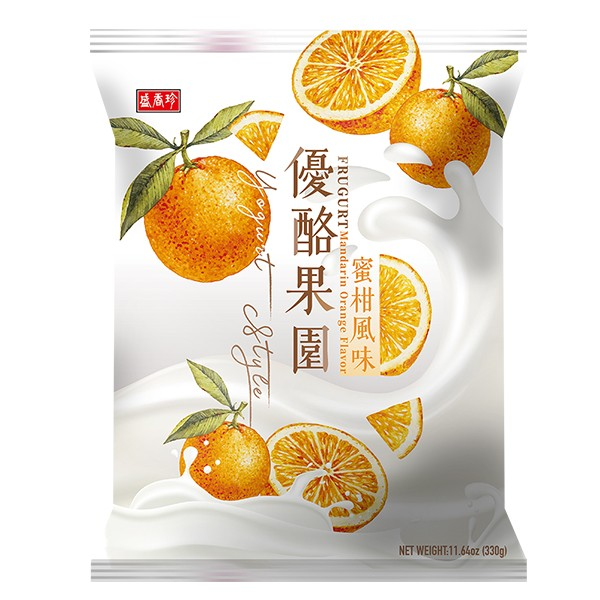 盛香珍 優酪果園系列-蜜柑風味330gX10包(箱)