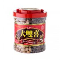 ★年節特選商品★盛香珍 大雙喜(焦糖瓜子+開心果)670g/桶