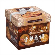 ★年節特選商品★盛香珍 手製煎餅禮盒(花生+綠藻) 570g/盒-緞帶為提把