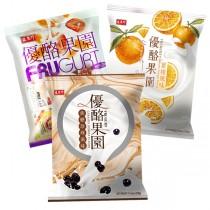 盛香珍 優酪果園系列(焦糖珍珠風味/蜜柑風味/綜合風味)330gX10包(箱)