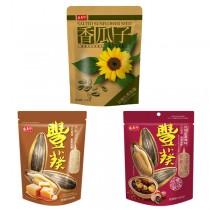 盛香珍 豐葵香瓜子(焦糖風味/桂圓紅棗風味/奶香原味)10包 (箱)