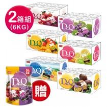 [超值特惠] 盛香珍 Dr.Q蒟蒻果凍量販箱6kg x2箱 送 Dr.Q雙味蒟蒻(葡萄+荔枝)785g