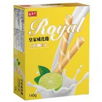 盛香珍 皇家威化捲系列-清新檸檬140g/盒