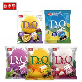 盛香珍 Dr.Q蒟蒻果凍265g系列x10包(箱)(葡萄/荔枝/芒果/檸檬鹽/百香果5種口味可選)